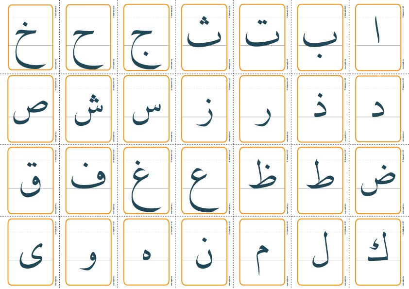 بطاقات الحروف العربية Pdf كنج كونج 2