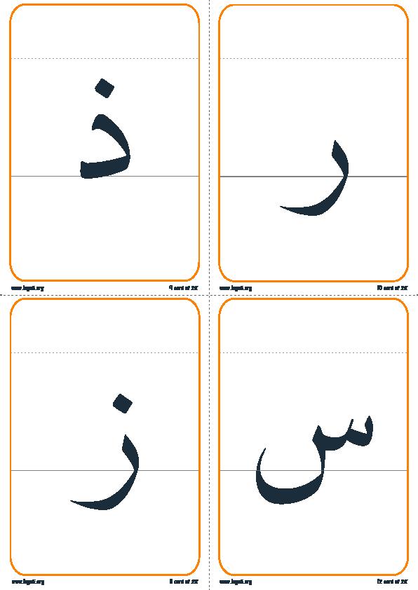تقسيم الحرف إلى رئيسي و ذيل3