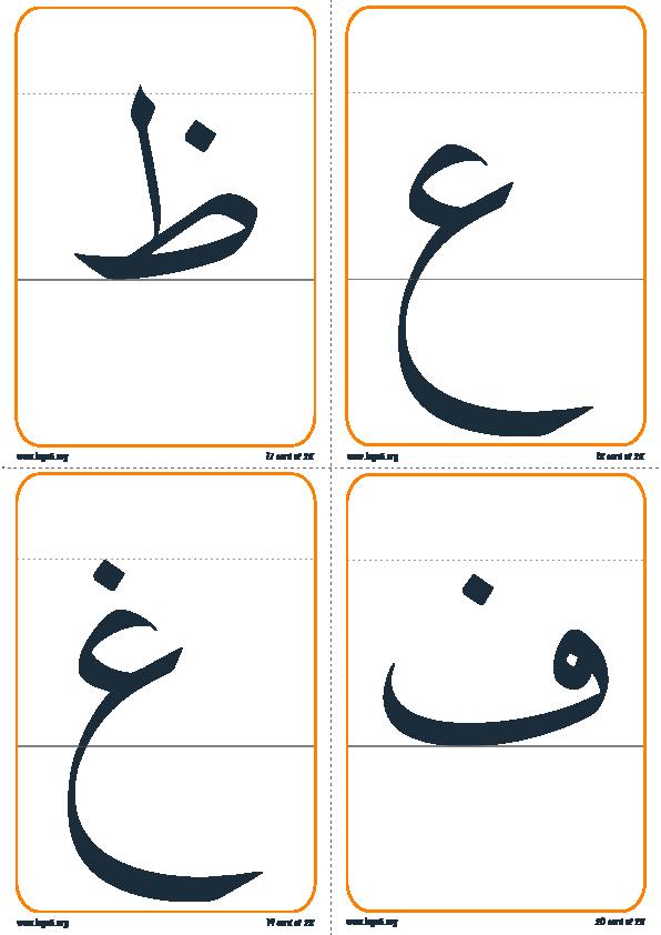 تقسيم الحرف إلى رئيسي و ذيل5