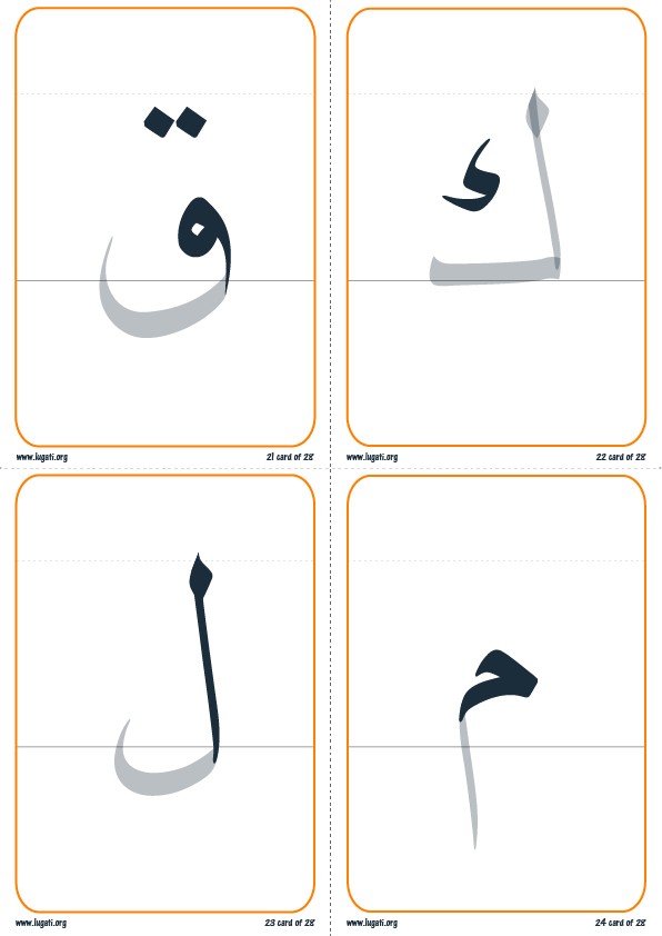 تقسيم الحرف إلى رئيسي و ذيل6